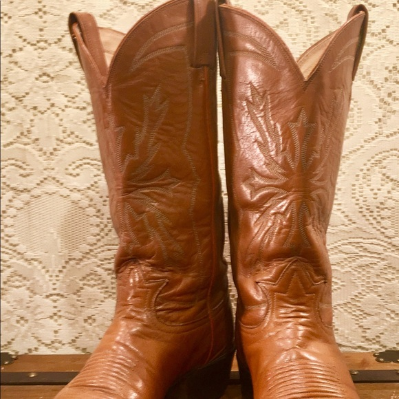 8245fd1930c Tony Lama Tan Black Label Cowgirl Boots size 9 1/2